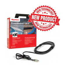 Raychem FrostGuard preassembled self-regulating heating cable.  6' cable w/ 6' cord and lighted plug